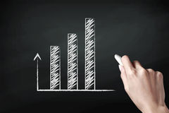 Graph icon Stock Photo