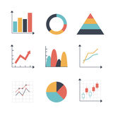 Graph Icon set Royalty Free Stock Images