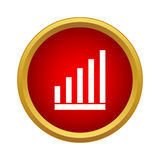 Graph icon, simple style Royalty Free Stock Photos
