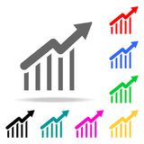 Graph Icon in trendy flat style isolated. Elements in multi colored icons for mobile concept and web apps. Icons for website desig. N and development, app Stock Images