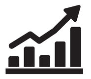 Graph icon Royalty Free Stock Image