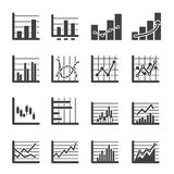 Graph icon Royalty Free Stock Photos