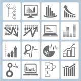 Graph icons Stock Images