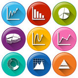 Graph icons Royalty Free Stock Photography
