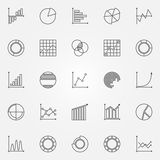 Graph icons vector set Royalty Free Stock Image
