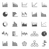 Graph icons on white background. Stock vector Stock Photos