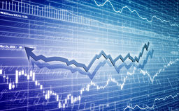 Graph illustration. Illustration of a chart in blue Stock Photography