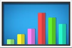 Graph illustrationen, Infographic beståndsdelar kan användas för workflo Royaltyfri Foto