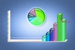 Graph illustrationen, Infographic beståndsdelar, och rastret kan vara använd fo Royaltyfri Fotografi
