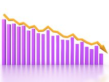 The graph of incidence of the pink boxe �3 Royalty Free Stock Image