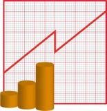 Graph increase Stock Photos