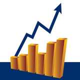 Graph with increase. A graph showing the increase Royalty Free Stock Images