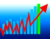 Graph Increasing Means Statistics Infochart And Investment Royalty Free Stock Image