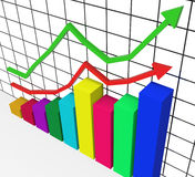 Graph Increasing Represents Marketing Profitable And Improve Royalty Free Stock Photography