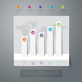 Graph infographic design vector and business icons. Royalty Free Stock Photos