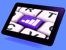 Graph Key Tablet Means Data Analysis Or Statistics Royalty Free Stock Image