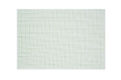 Graph line, paper on white background Royalty Free Stock Images