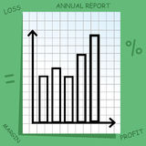 Graph with mathematics icons Stock Image