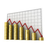 Graph money Royalty Free Stock Images