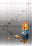 Graph, money Stock Photo