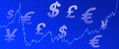 Graph Money background Royalty Free Stock Images