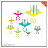 Graph money set Dollar infographics color Vector Royalty Free Stock Photo