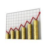 Graph money1 Stock Photos