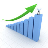 Graph moving up. Success concept Royalty Free Stock Photography