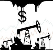 Graph of oil. Royalty Free Stock Image