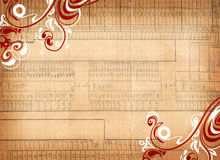 Graph paper. A graph paper texture with floral swirls Stock Photos