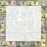 Graph paper on American dollars Stock Photography