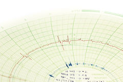Graph on paper background Royalty Free Stock Photo