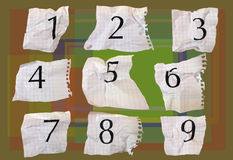 Graph paper numbers. Numbers printed on graph paper, photographed and put into sequence then turned into interesting pattern vector illustration