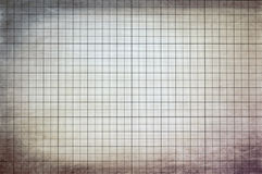 Graph paper. Old vintage dirty graph paper Royalty Free Stock Images