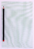 Graph paper with pencil Royalty Free Stock Image
