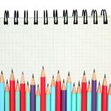 Graph paper with pencils Stock Photo