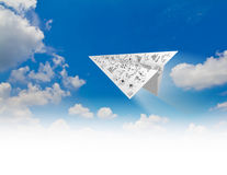 Graph Paper planes Stock Images