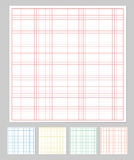Graph paper set Stock Image