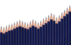 Graph with pencils Royalty Free Stock Photography