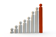 Graph of people icons to show staff, people growth or population Stock Photography
