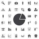 Graph pie icon. Business icons set Royalty Free Stock Photos