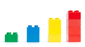 Graph of plastic blocks Royalty Free Stock Photo