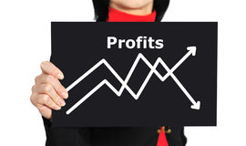 Graph of profit Stock Image
