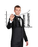 Graph of profits Royalty Free Stock Photos