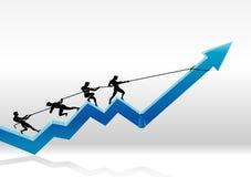 Graph Pull Teamwork Stock Photo