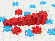 Graph from puzzle Stock Photos