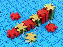 Graph from puzzle Stock Photography