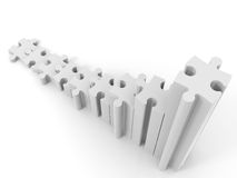 Graph from puzzle on white background. 3D illustration Royalty Free Stock Image