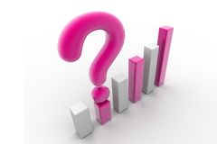 Graph with question mark Royalty Free Stock Image