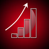 Graph of rapid growth in the value royalty free stock photo